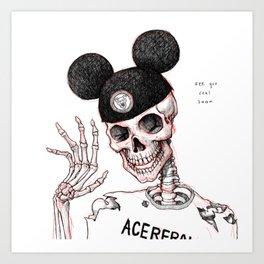 Necromouseketeer Art Print