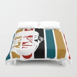 Noam Chomsky Retro Homage Duvet Cover