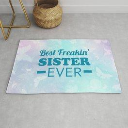 Best Freakin' Sister Ever Rug