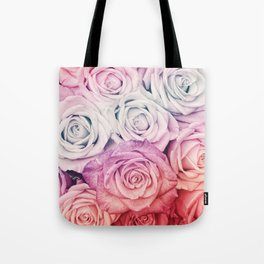 Some people grumble II  Floral rose flowers pink and multicolor Tote Bag