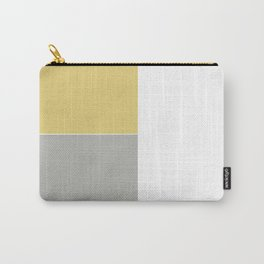 Gray and Yellow Carry-All Pouch