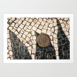 Macao Cobble Stones Art Print