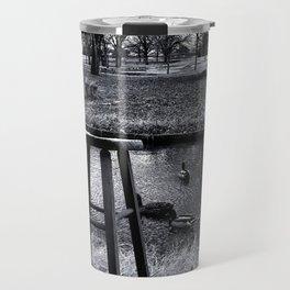 Stool - Black and White Travel Mug