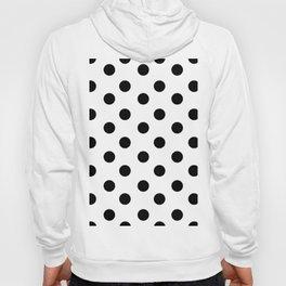 White & Black Polka Dots Hoody