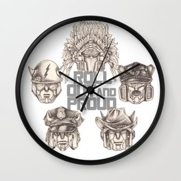Roll Out & Proud Wall Clock