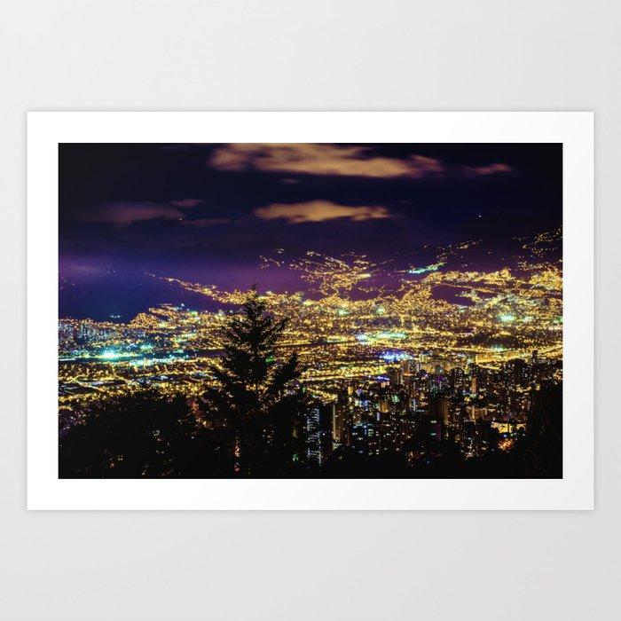 Medellin Night Moves Kunstdrucke