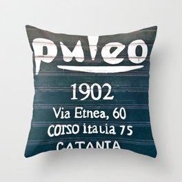 Via Etnea in Catania on the Isle of Sicily Throw Pillow