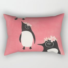 3 Penguins Rectangular Pillow