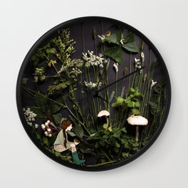 Bridie and the Robins in the Forest of Shamrocks Wall Clock