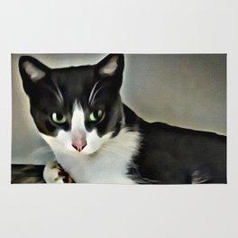 Black & White Kitty Rug