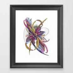 Trapped in honeysuckle Framed Art Print
