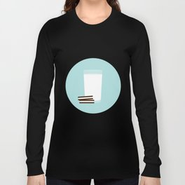 #25 Milk and Cookies Long Sleeve T-shirt