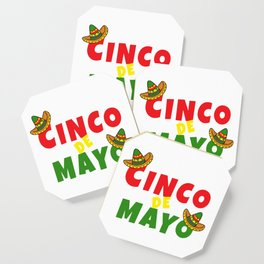 Awesome Cinco De Mayo Sombrero Mexican Independence design Coaster