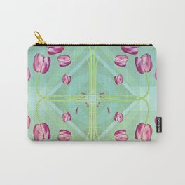 Tulips in green shades Carry-All Pouch