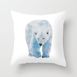 Geometric Polar Bear Throw Pillow