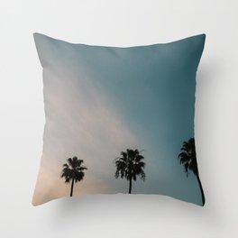 Palm Trees, Culver City Throw Pillow