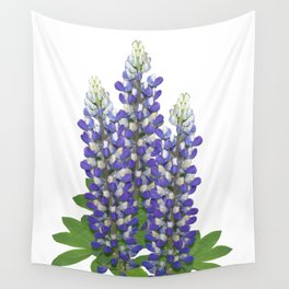 Blue and white lupine flowers Wall Tapestry