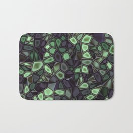 Fractal Gems 04 - Emerald Dreams Bath Mat