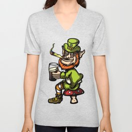 Wasted Leprechaun Unisex V-Neck