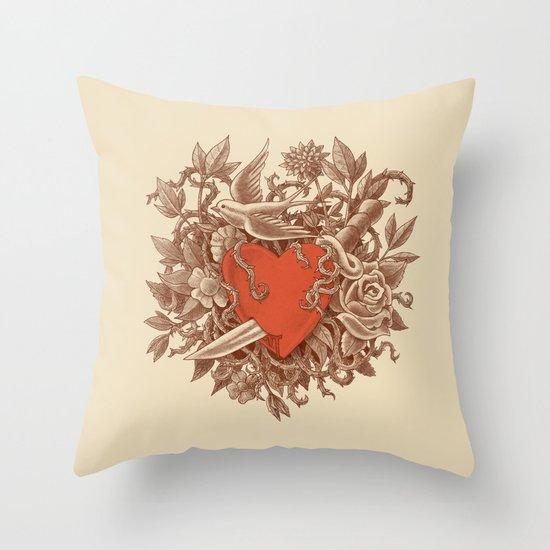 Heart of Thorns  Throw Pillow