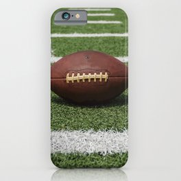 American Football Court with ball on Gras iPhone Case