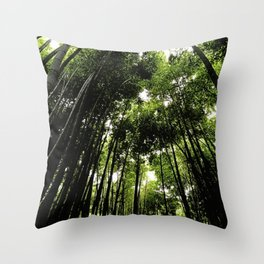 Bambo Forest Throw Pillow
