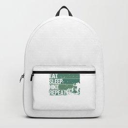 Eat Sleep Hike Repeat gr Backpack