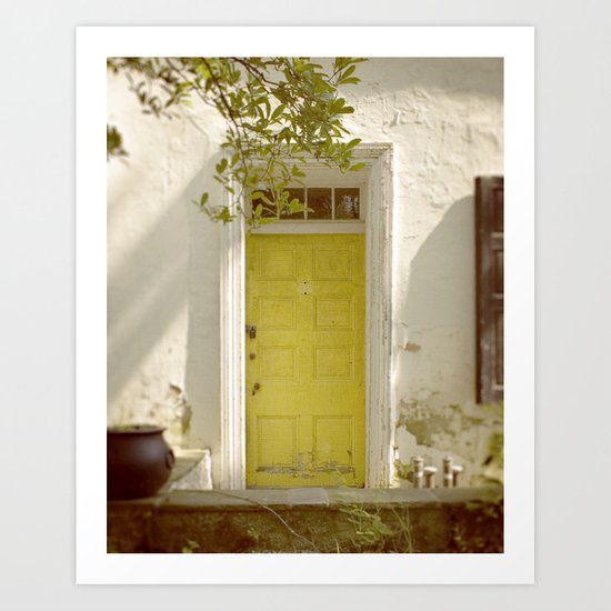 Yellow Door Art Print