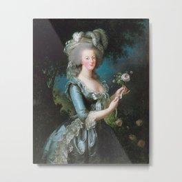 Marie Antoinette with the Rose, Elisabeth Vigee Le Brun, 1783 Metal Print