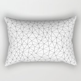 Low Pol Mesh (positive) Rectangular Pillow