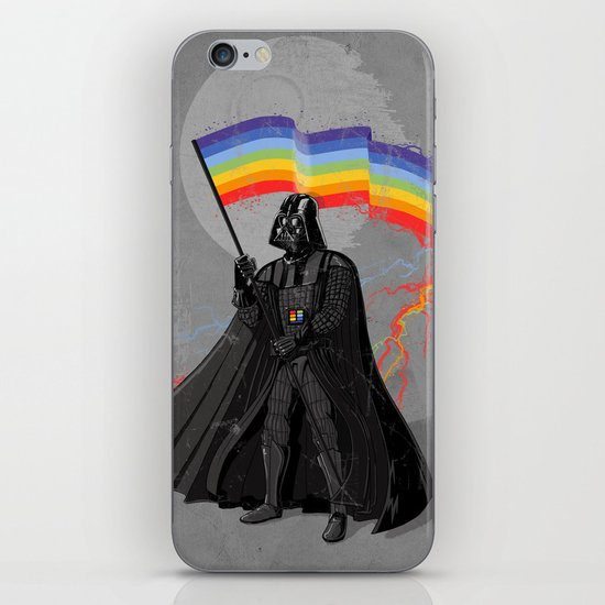 The Rainbow Side of the Force iPhone & iPod Skin