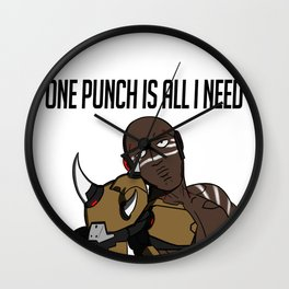 One Punch Is All I Need Wall Clock