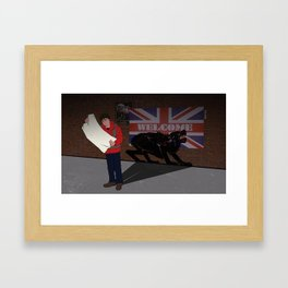 Welcome to London, American Framed Art Print