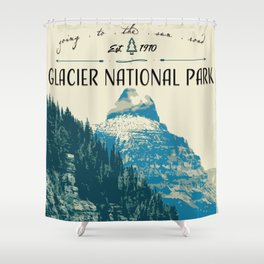 Glacier National Park - Going to the Sun Road Shower Curtain