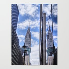 Chrysler Building Reflections in Midtown Poster