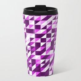Purple Patchwork Metal Travel Mug