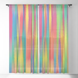 Paint Yourself In Stripe Sheer Curtain