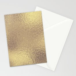 Simply Metallic in Antique Gold Stationery Cards
