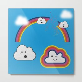 The Great Rainbow Cloud Robbery Metal Print