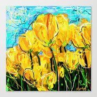 tulips Canvas Prints featuring Tulips  by sladja