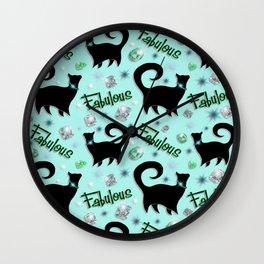 Fabulous Felines Wall Clock