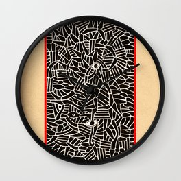 - in the summer garden : contemplation - Wall Clock