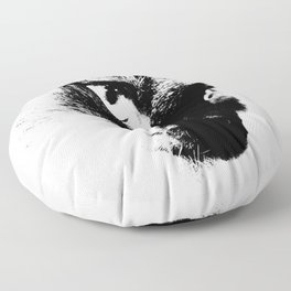 Rorchach Cat Floor Pillow