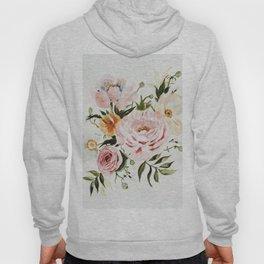 Loose Peonies & Poppies Floral Bouquet Hoody
