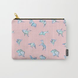Origami on Pink Carry-All Pouch