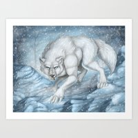 Snow Prowl Art Print