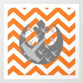 Star Wars Wraith Squadron and Chevrons Art Print