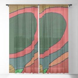 Abstract #325 Sheer Curtain