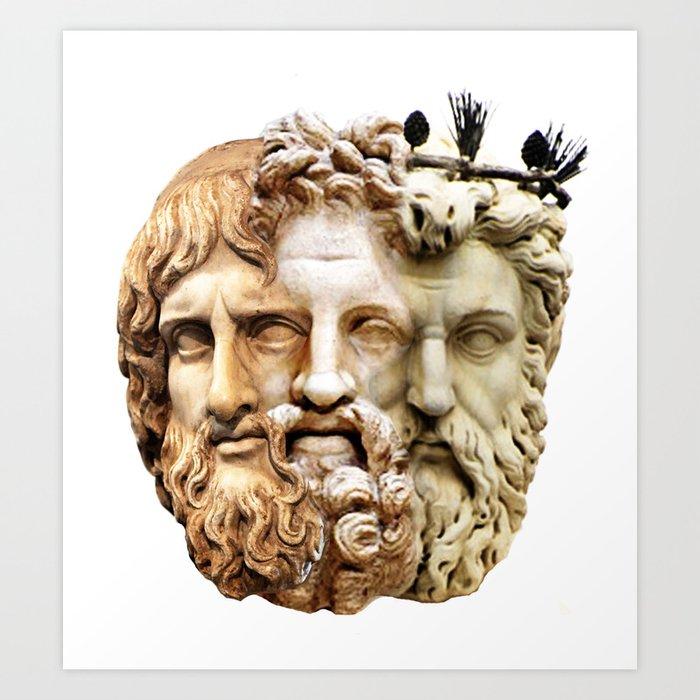 greek gods faces art print by francescoart society6