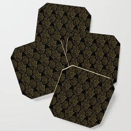 Gold Paisley Hamsa Hand pattern Coaster